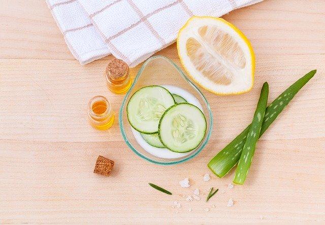 citron, aloe vera, okurka